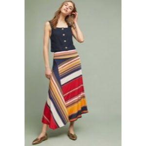NEW MAUVE Long Pull-on Stripe Maxi Skirt  Medium